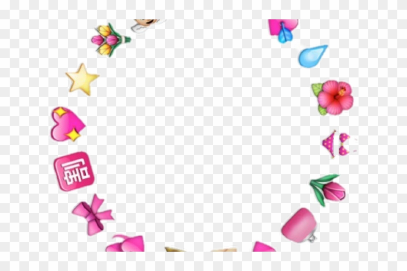 Aesthetic Clipart Heart Png - Emoji Circle Png Transparent #1996459