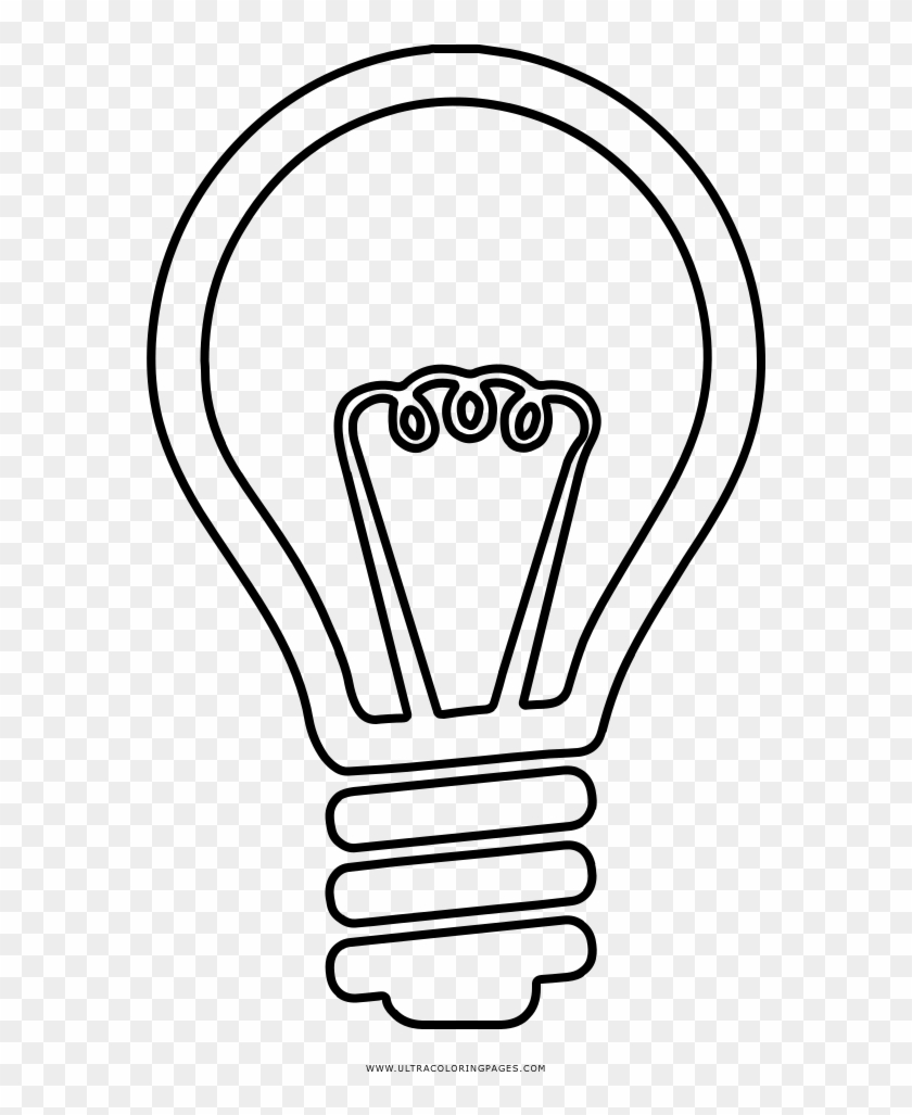 Valuable Idea Light Bulb Coloring Page Ultra Pages - Incandescent Light Bulb Clipart #1996793
