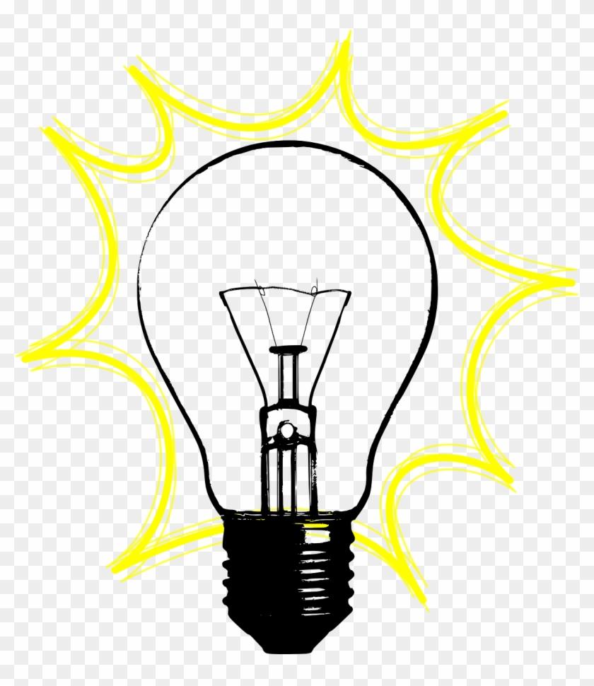 Lamp,light,electric Light,light Bulb,idea,blink,yellow, - Vintage Light Bulb Clip Art - Png Download #1996889