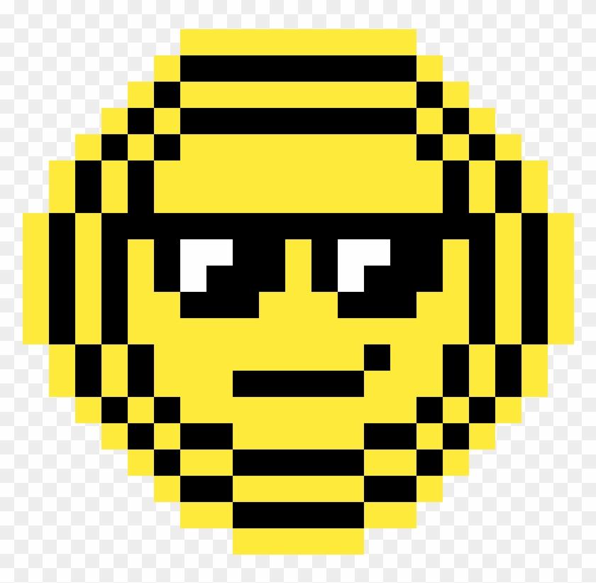 An Emoji For The Emojimovie - Pixel Art Smiley Clipart #1999320