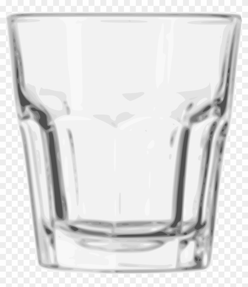 Open - Old Fashioned Rock Glass Clipart #20139