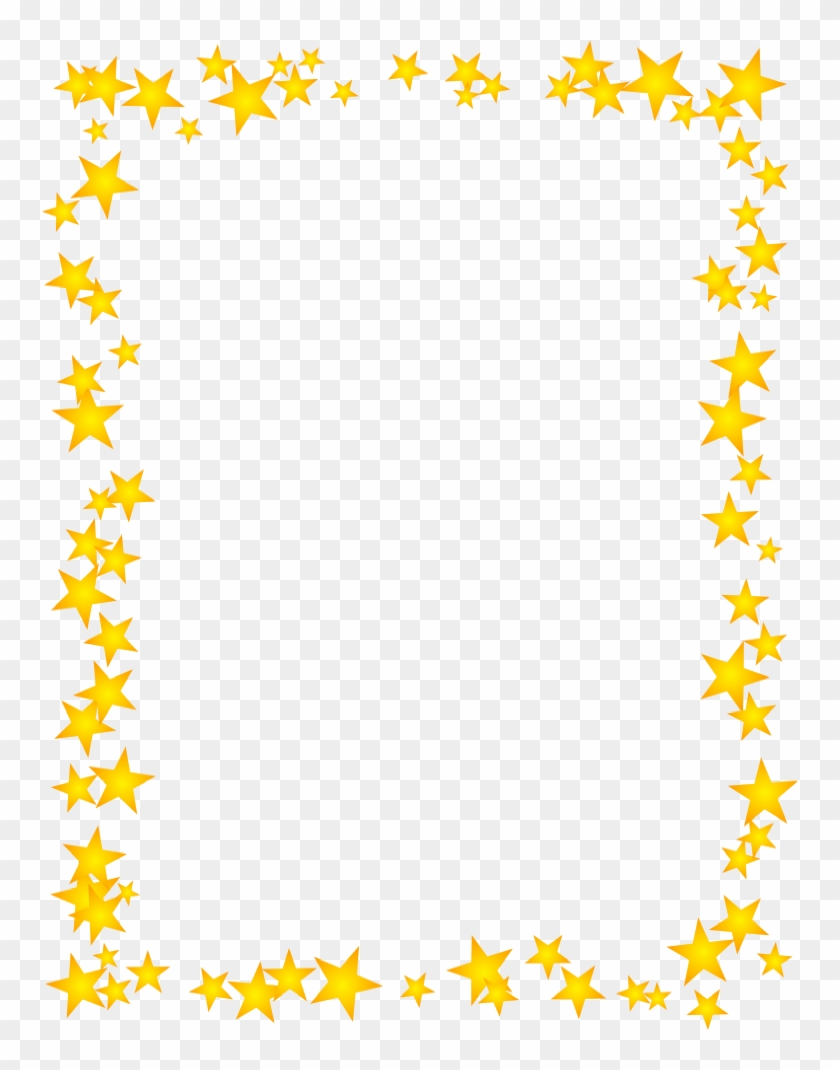 Gold Star Border Dromhja Top Clipart - Star Border Clipart, HD Png Download #21263