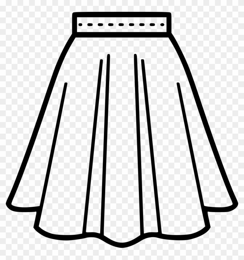 Png File - Skirt Black And White Clip Art Transparent Png@pikpng.com