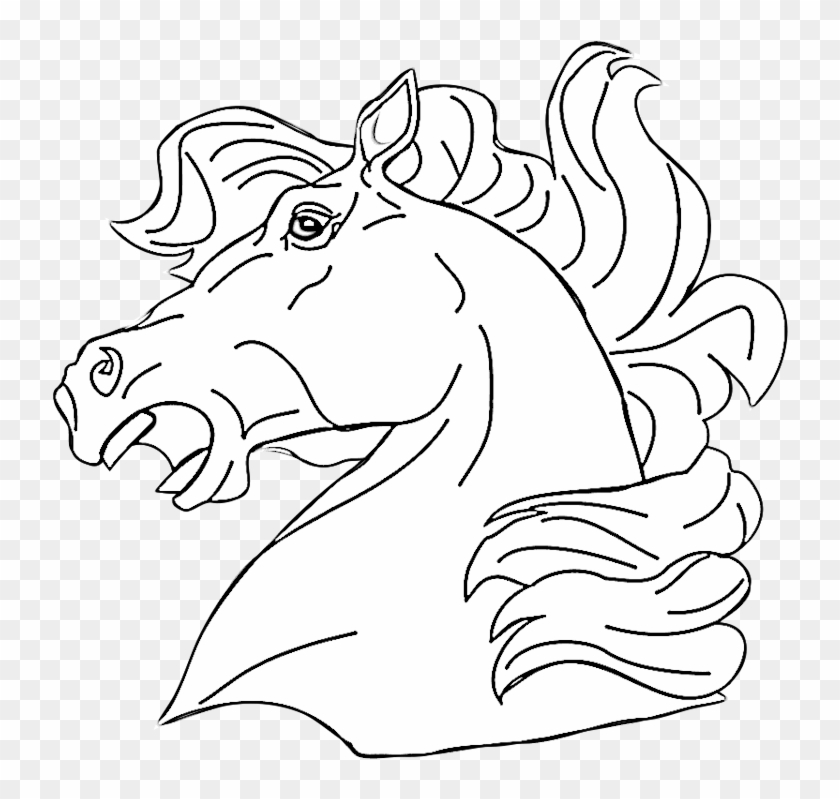 Coloring Pages Horse Head Croke Coloring Pages Of Animals Clipart 22167 Pikpng