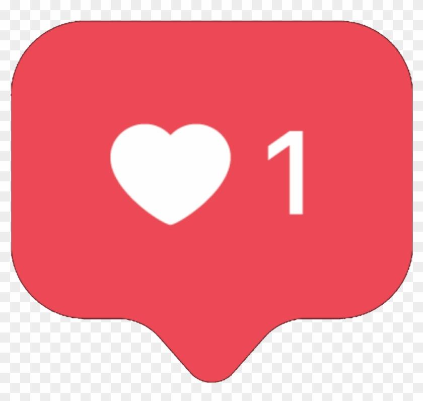 Like Instagram Heart Free Png - Instagram Likes Clipart #22576