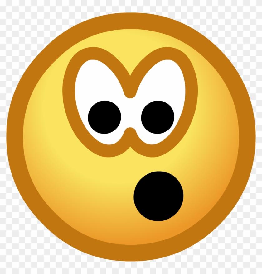 Surprised Emoticon - Emoticon De Club Penguin Clipart #22598