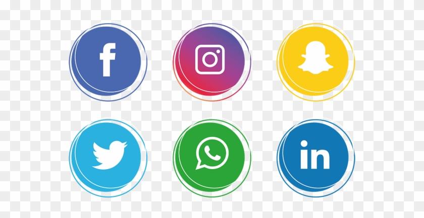 Facebook E Instagram Png - Transparent Background Social Media Icons Png Clipart #22774