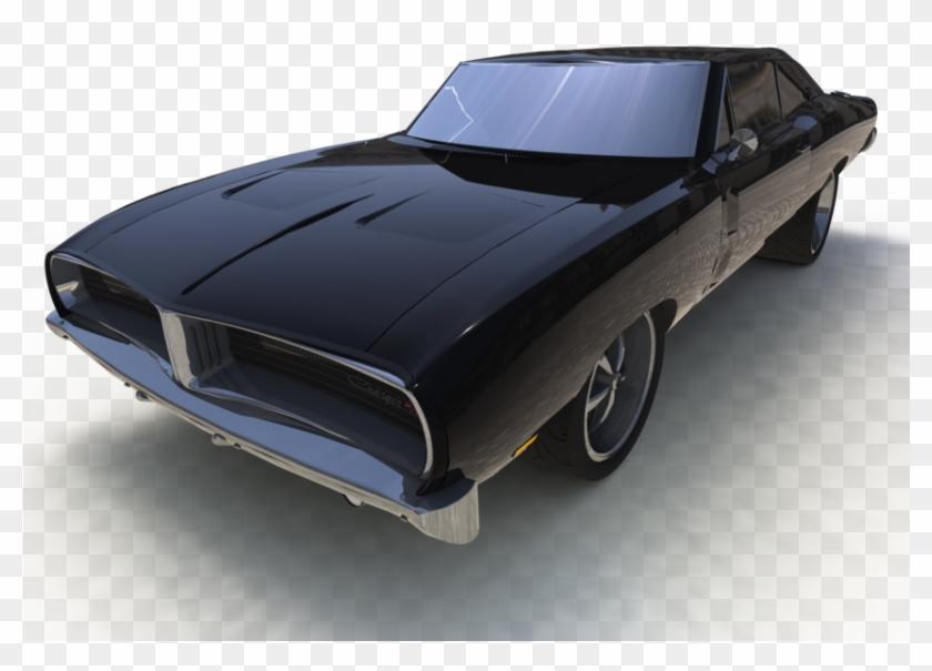 Muscle Car 3d Model Clipart #24358
