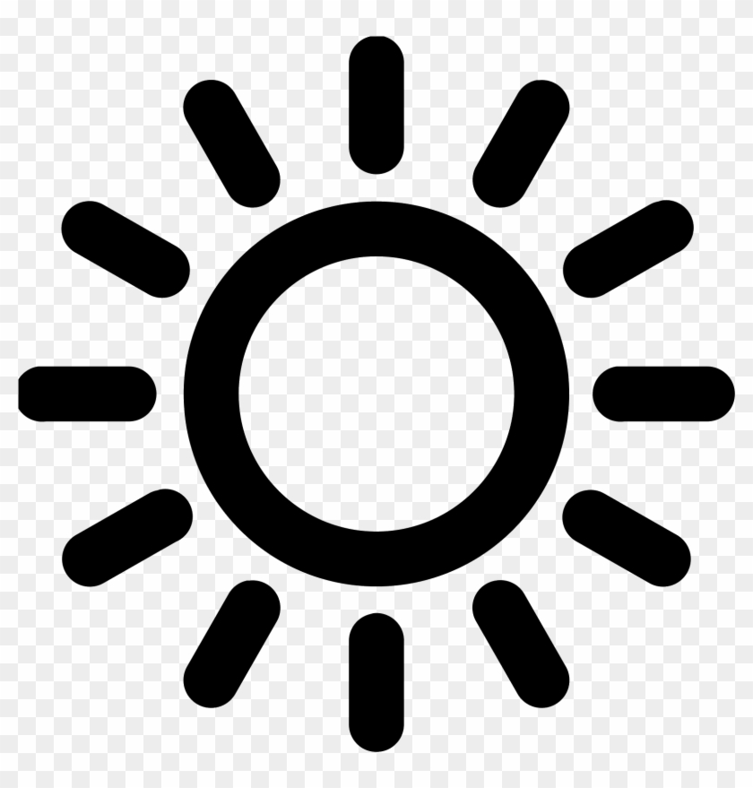 Sunrise Icon Png Sun Icon Black And White Clipart 25609 Pikpng