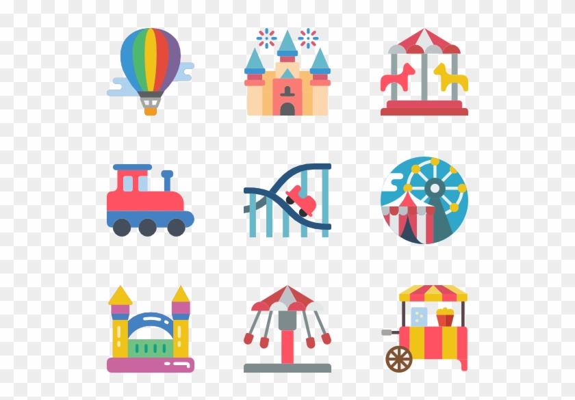 Theme Parks - Theme Park Icon Png Clipart #26861