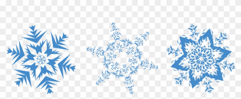 Snowflakes Png Image Transparent Background Line Of Snowflakes Clipart 27120 Pikpng