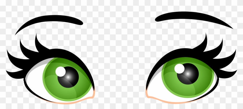 Green Female Eyes Png Clip Art - Eyes Clipart Transparent Background #27618