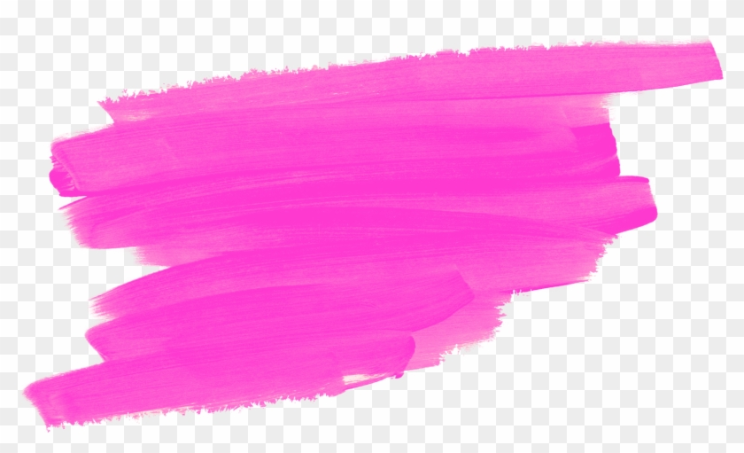 Pink Paint Brush Pink Brush Stroke Png Clipart 28063 Pikpng