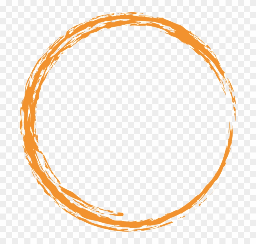 Orange Round Circle - Circle Vector Png Design Clipart #28390