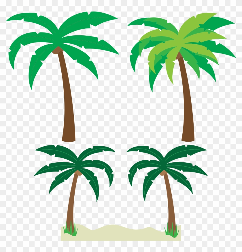 Free Cartoon Palm Trees Clipart Clipart And Vector - Tropical Palm Trees Clipart - Png Download #29024