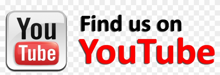 Youtube Subscribe Button Png - Find Us On Youtube Button Clipart #200772