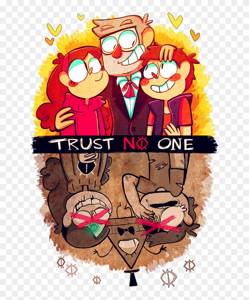1 Trust No One Mabel Pines Dipper Pines Grunkle Stan - Trust You Trust No One Gravity Falls Clipart #202910