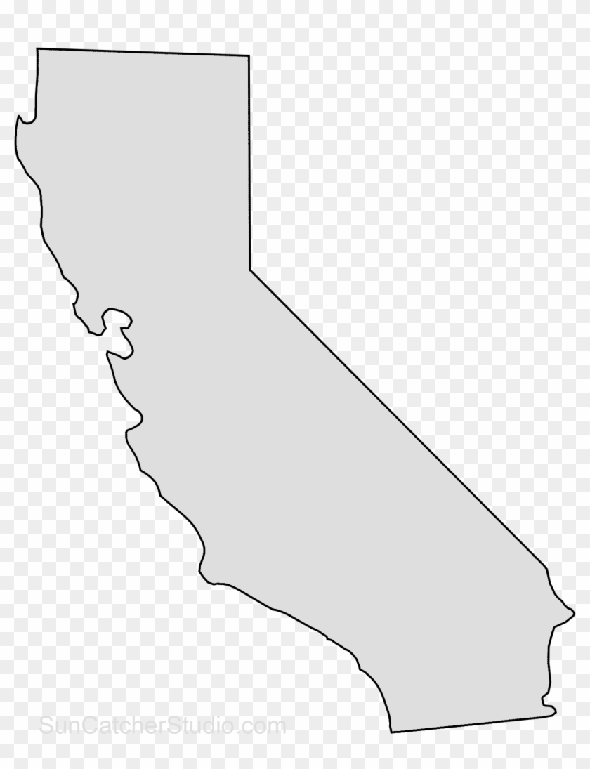 California Map Outline Png Shape State Stencil Clip California White State Transparent Png 204220 Pikpng