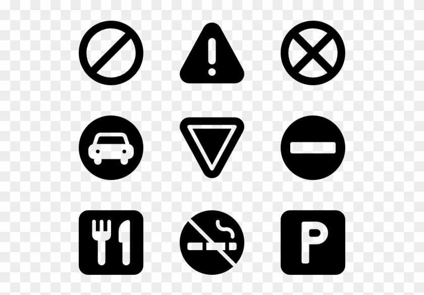 600 X 564 5 - Traffic Sign Icon Png Clipart #207504
