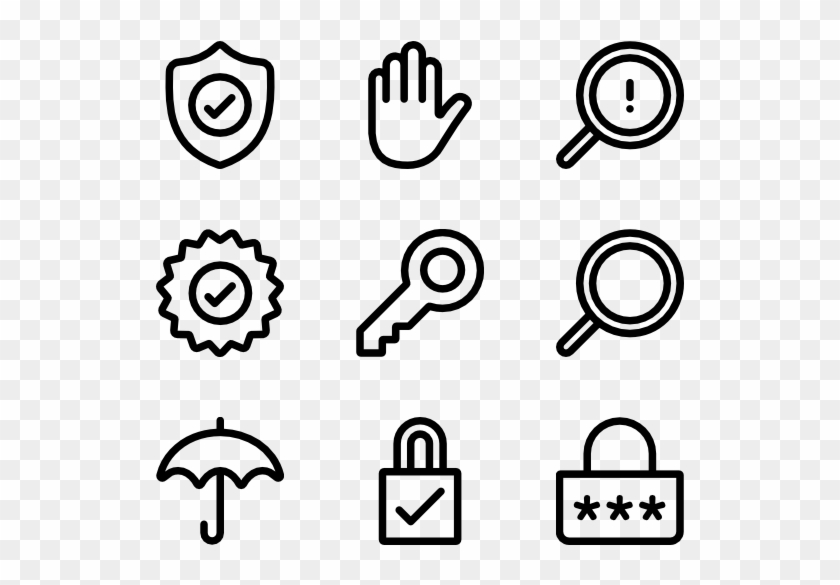 View Individual Icons Of Password - Hand Drawn Icon Png Clipart #2021910