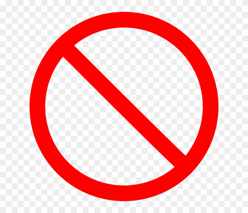 Red, Cancel, Delete, No, Forbidden, Prohibited - Stop Sign Png Clipart #2022667