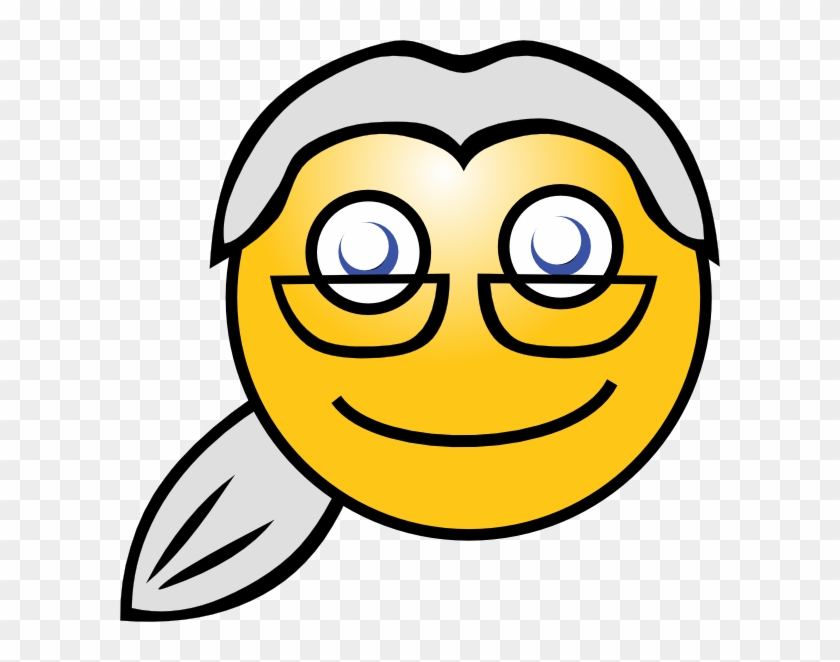 Original Png Clip Art File Smiley Lawyer Svg Images - Smiley Face Old Woman Transparent Png #2029142