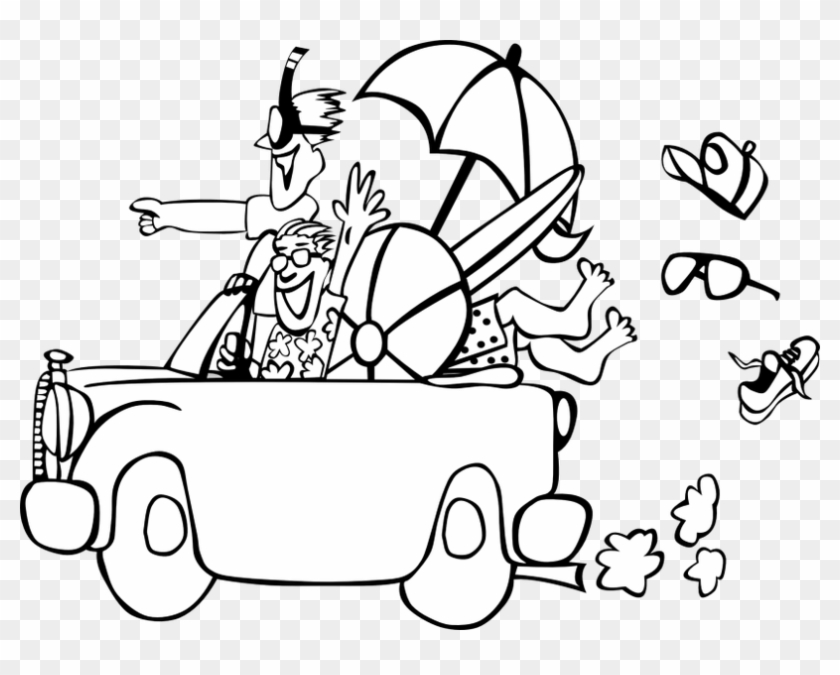 Clip Art Free Library Fun Mysummerjpg Com Best Clip - Summer Vacation Clipart Black And White - Png Download #2030016