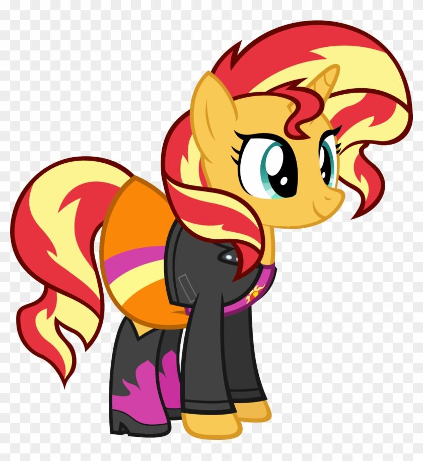 Drawn My Little Pony Sunset Shimmer - Mlp Eg Sunset Shimmer Pony Clipart #2035927