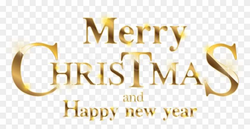 Free Png Merry Christmas Gold Transparent Png - Merry Christmas And Happy New Year 2019 Png Clipart #2040819