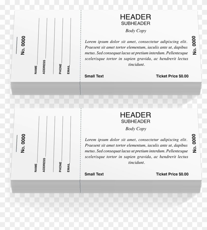 Pdf Raffle Ticket Template Clipart 2042887 Pikpng