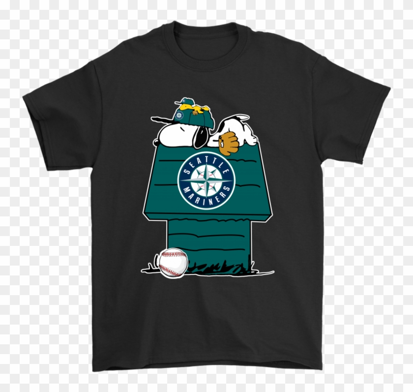 Seattle Mariners Snoopy And Woodstock Resting Together - Keep The Earth Clean It's Not Uranus T Shirt Clipart #2052429