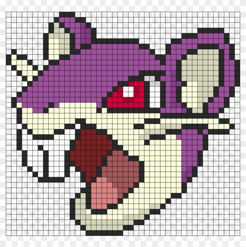 Pokemon Battle Trozei Rattata Perler Bead Pattern Small