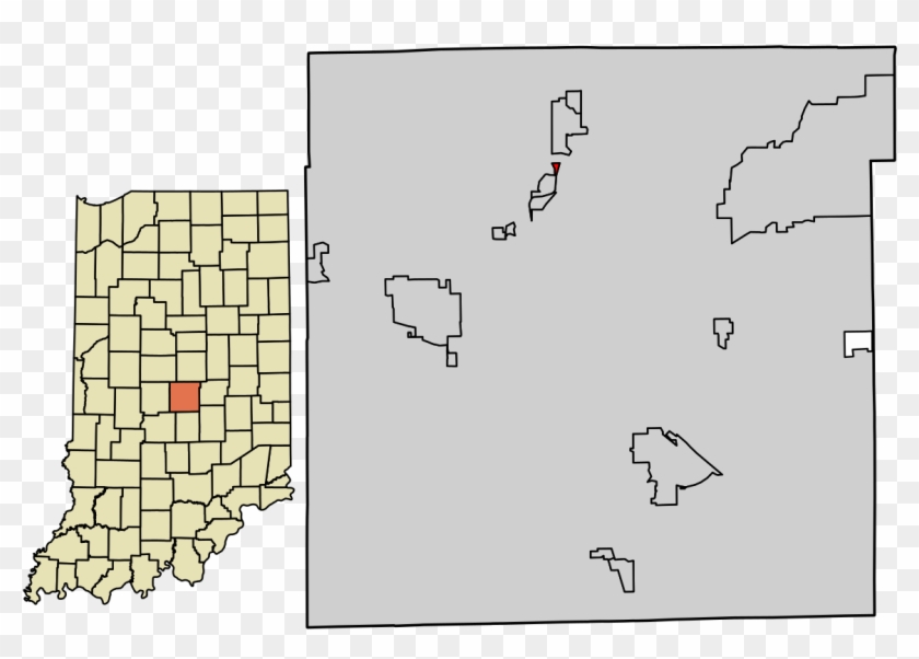 Portland Indiana State Map Clipart #2070163