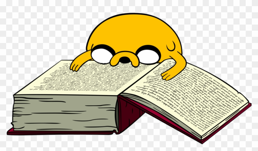 Libro Png - Adventure Time Jake Reading Clipart #2078409