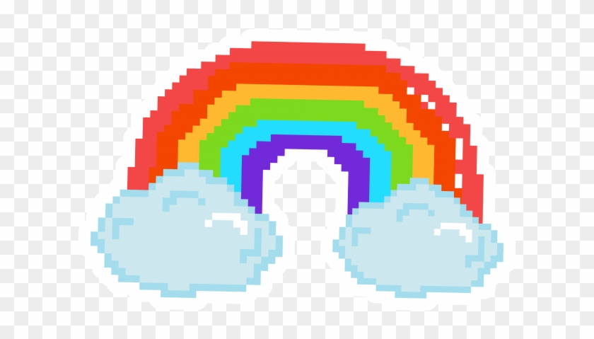 Pixel Art Rainbow Stickers - Pixel Art Rainbow Clipart #2079947
