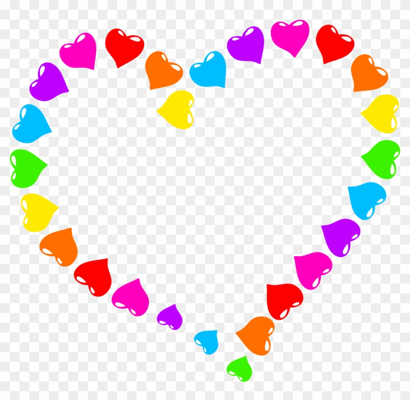 Rainbow Heart Transparent Transparent Background - Rainbow Heart Clipart - Png Download #2079994