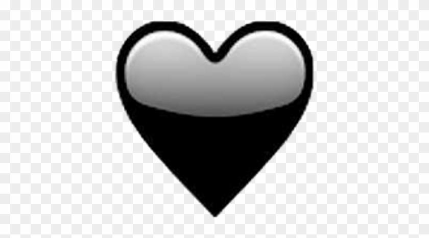 #heart #emoji #blackheart #tumblr #overlay #heartemoji - Emoji Heart Black Clipart #2084277