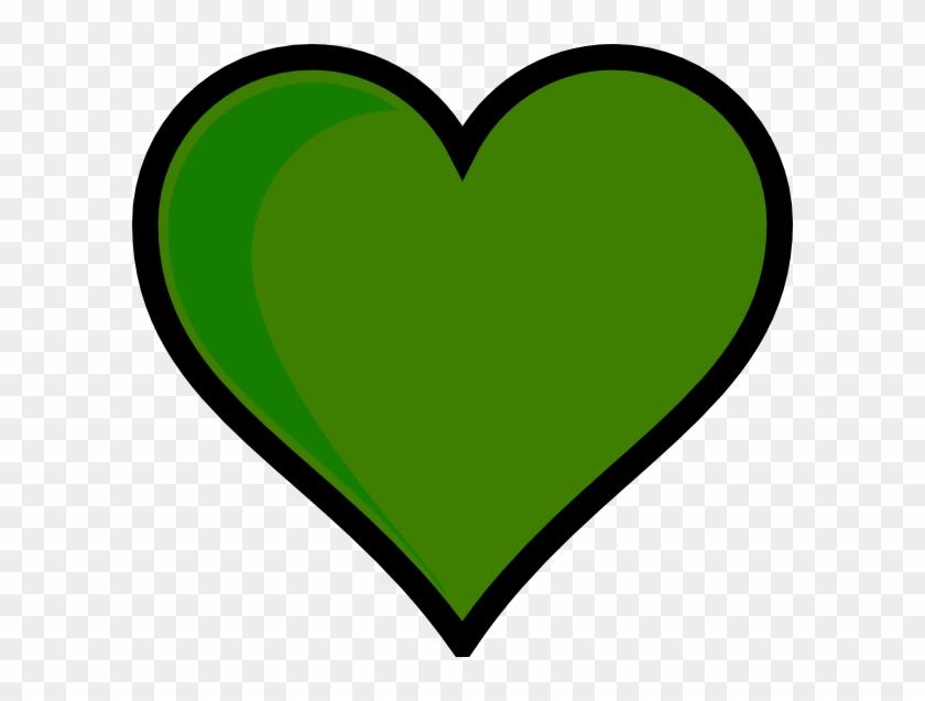 Green Heart Clip Art - Valentine Heart Outline - Png Download #2084478