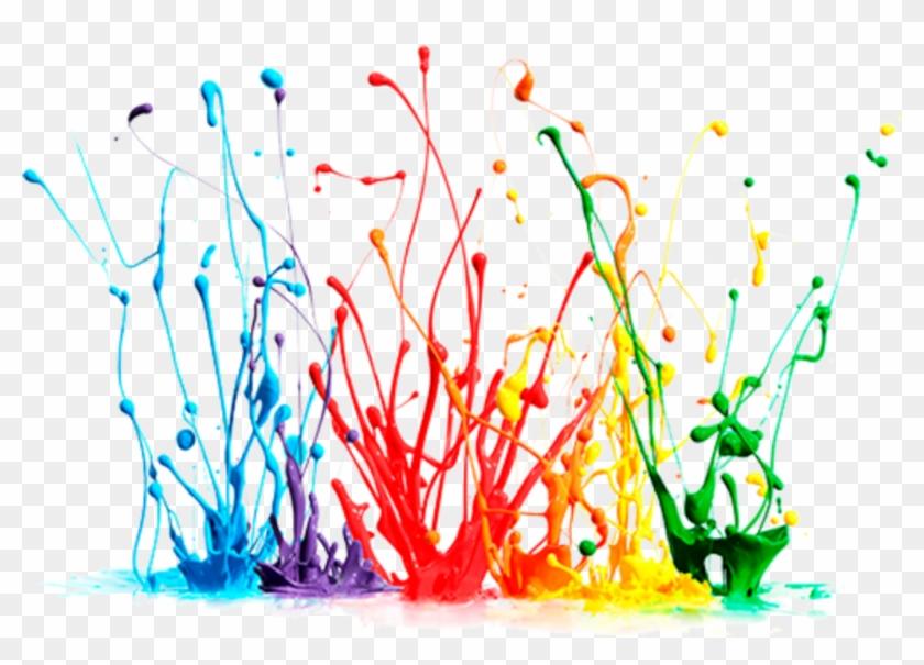 #paint #splash #colors #colours #colorful #rainbow - Gotas De Pintura Png Clipart #2086449