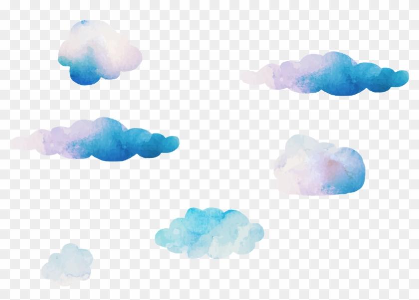 Image Cloud, Cloud Vector, Watercolor Clouds - Watercolor Clouds Transparent Clipart #2086857