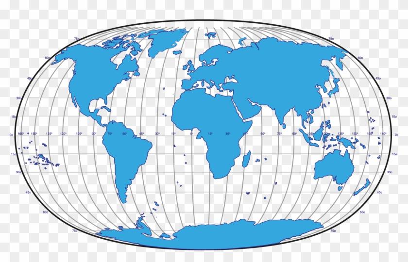 Globe Png - World Map Winkel Tripel Clipart #2093784