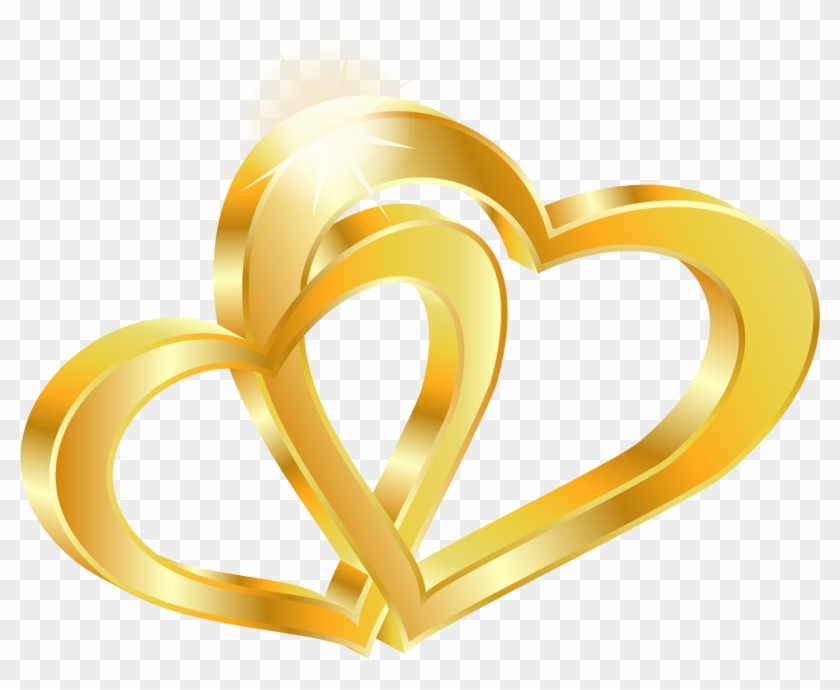 Free Double Heart Wedding Png Happy Wedding Anniversary Background Clipart 2096068 Pikpng