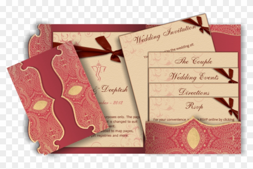 Free Png Download Indian Wedding Invitation Peach Png Jatt