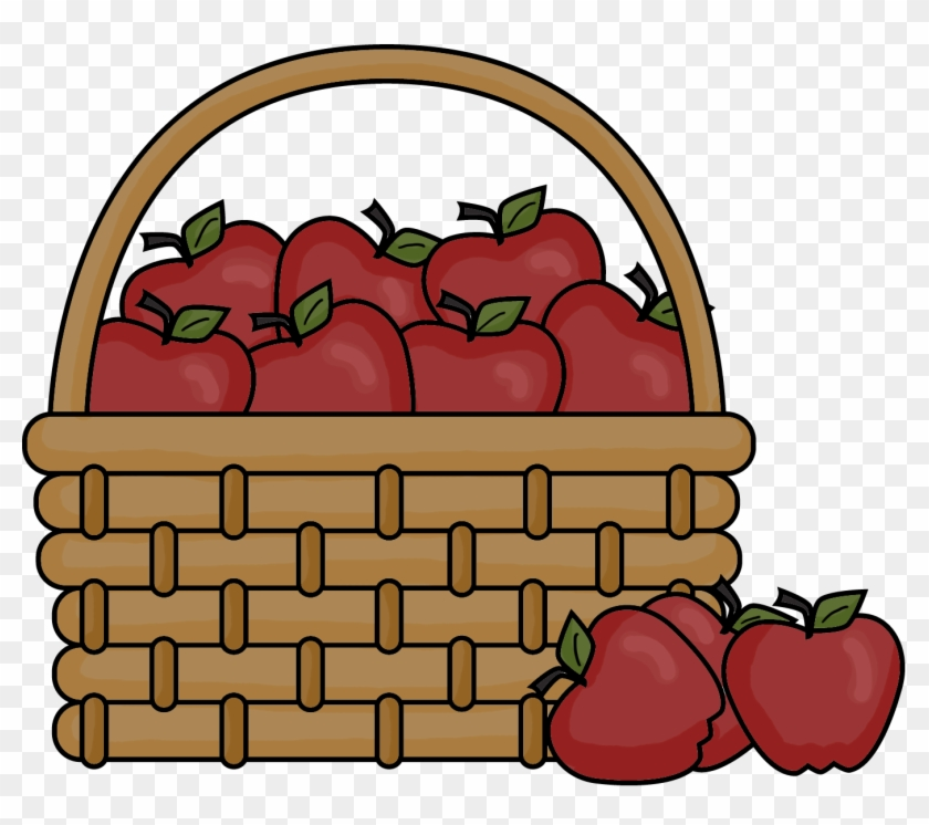 Picnic Basket Picnic Blanket Cliparts Png Cartoon Basket Of Apples Transparent Png 212124 Pikpng