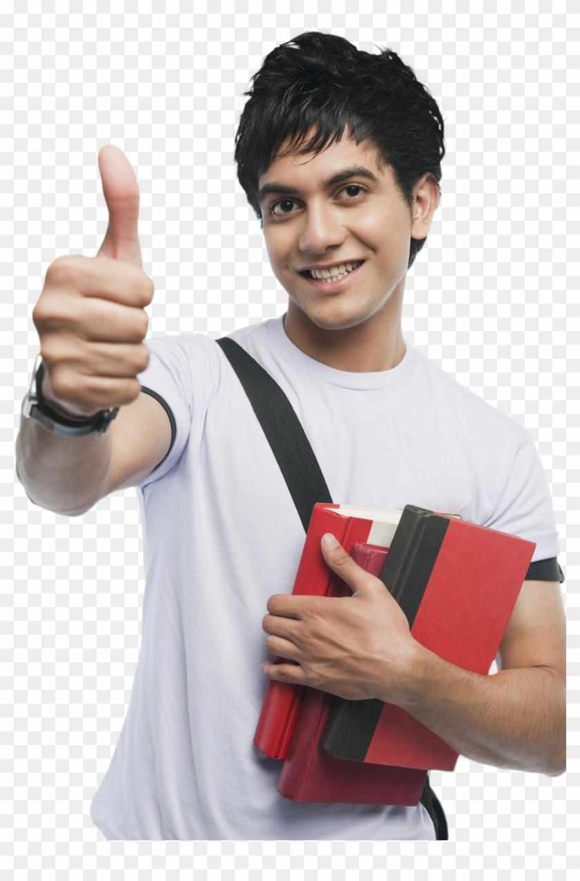 Student Png - College Student With Thumb Clipart #212290