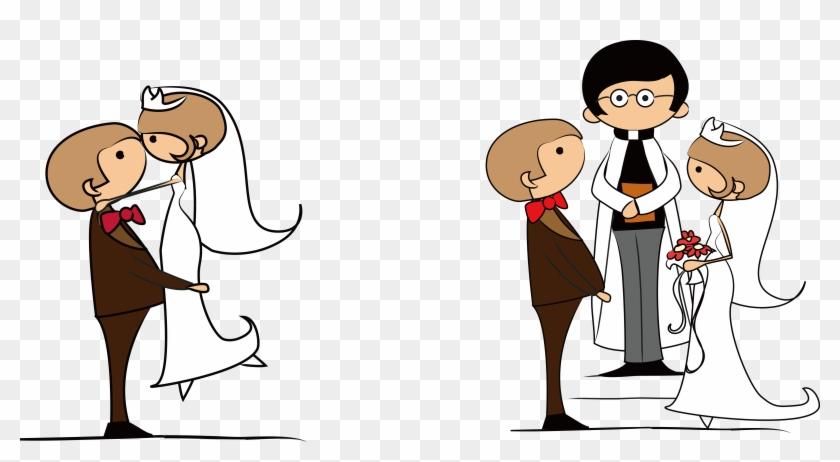 Kisspng Wedding Invitation Cartoon Clip Art Bride And - Couple Wedding Clip Arts Png, Transparent Png #212874