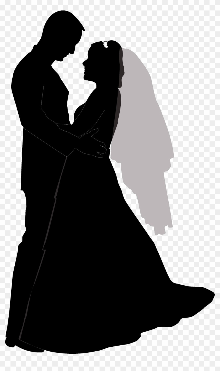 Wedding Couple Silhouette Png Free Download - Wedding Couple Silhouette Clip Art Transparent Png #213262