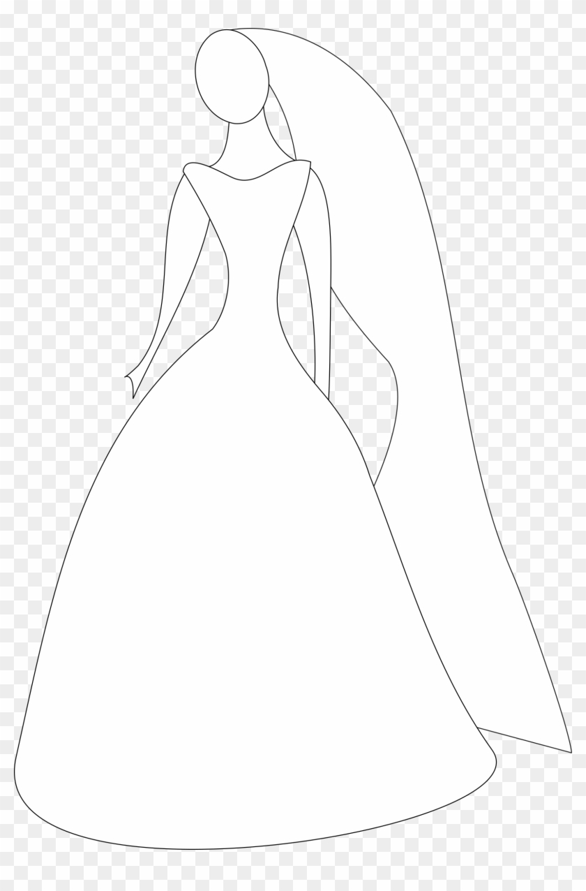 What Is A Silhouette Dress At Getdrawings - Wedding Dress Animation, HD Png Download #214384