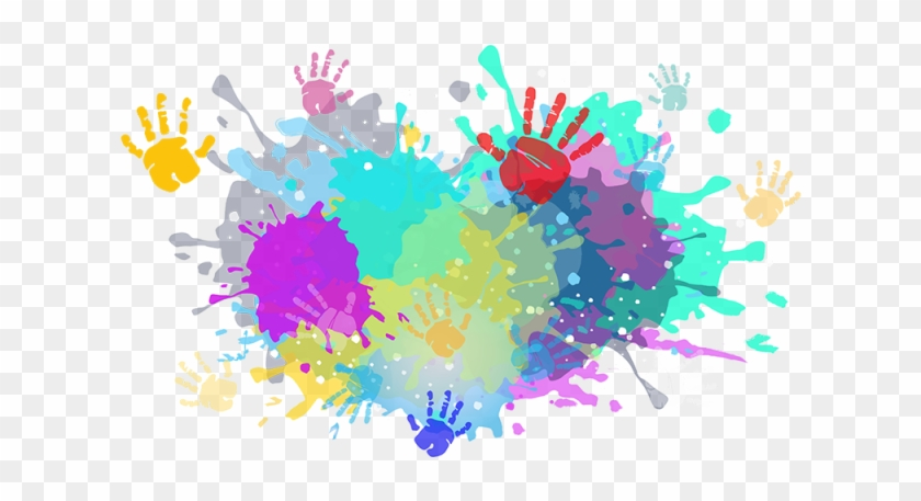 Colorful Colors Color Powder Splash Indian Ⓒ - Holi Color Splash Png, Transparent Png #215728