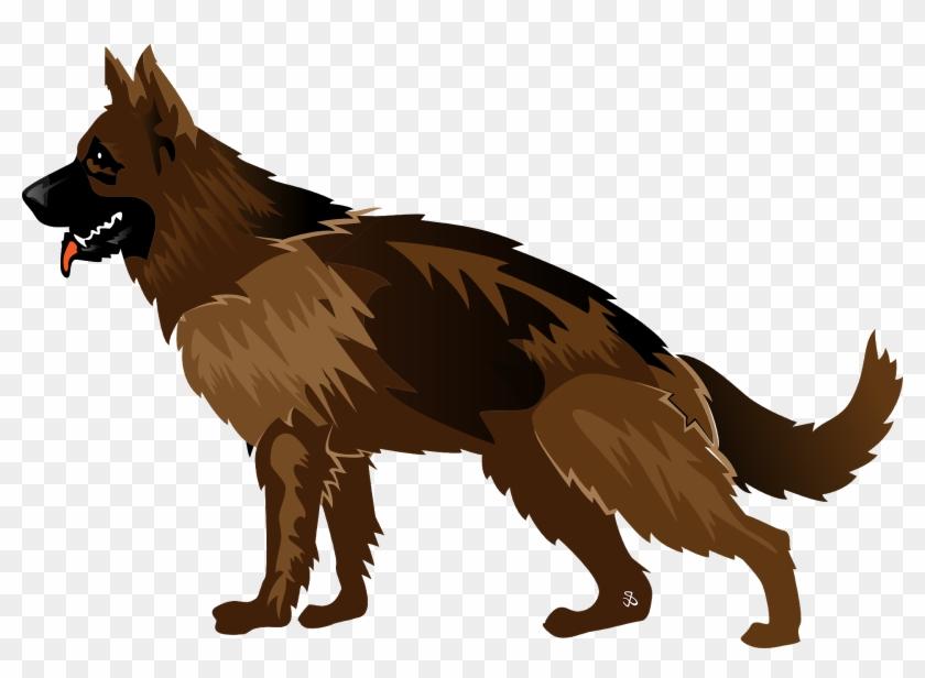 German Shepherd Puppy Illustration - German Shepherd Logo Design Clipart #216615